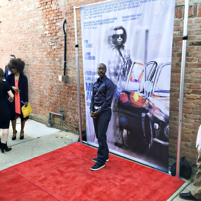 Don Cheadle at the Miles Ahead premiere