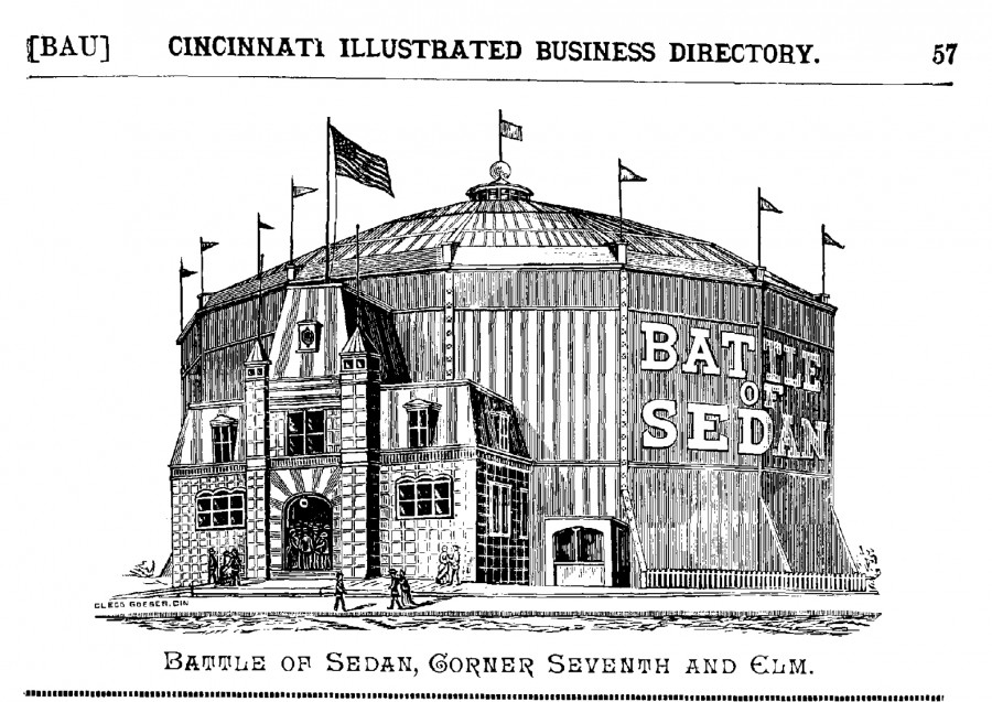 Drawing of the Panorama Building, from Illustrated Business Directory And Picturesque Cincinnati, 1887-88