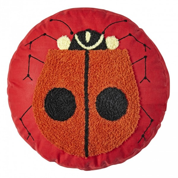 Charley Harper for Land of Nod Lady Bug Throw Pillow, $29