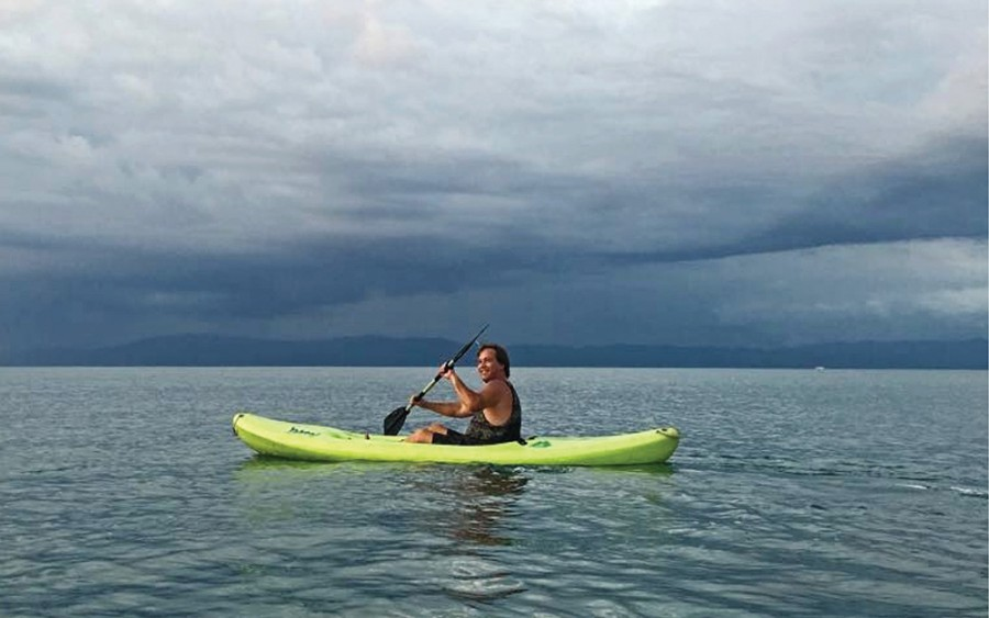 Randy Morgan out on the Golfo Dulce