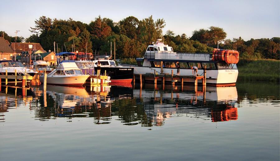 Boats in Leland Harbor