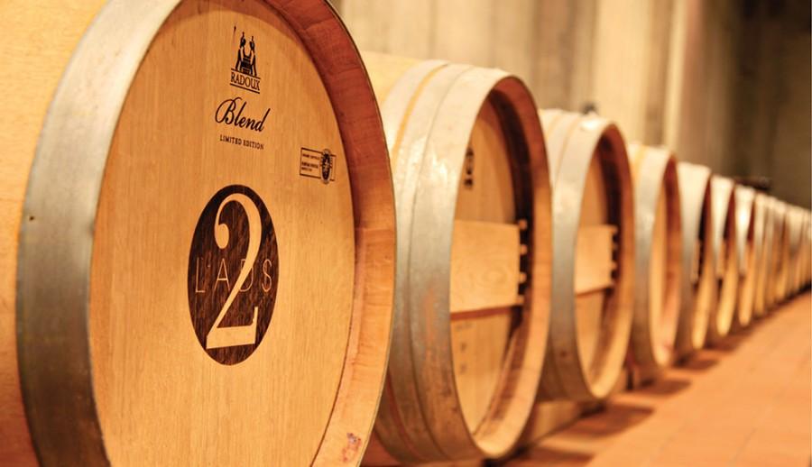 Barrels at 2 Lads Winery