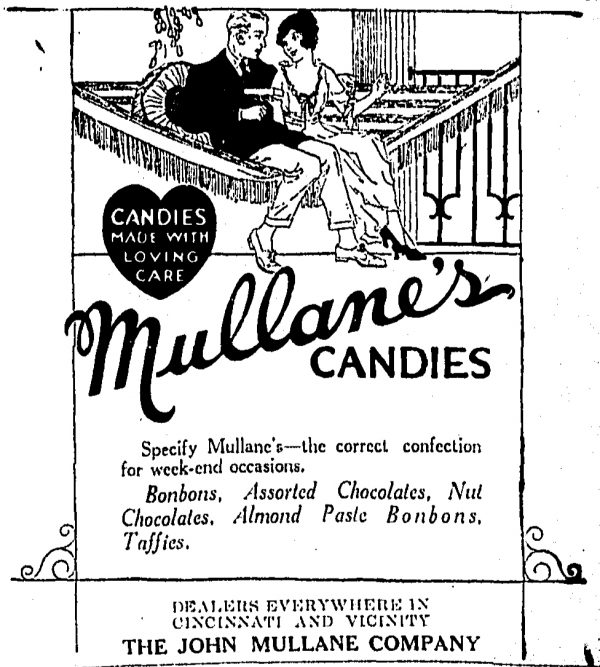 Advertisement from The Cincinnati Enquirer, April 1921
