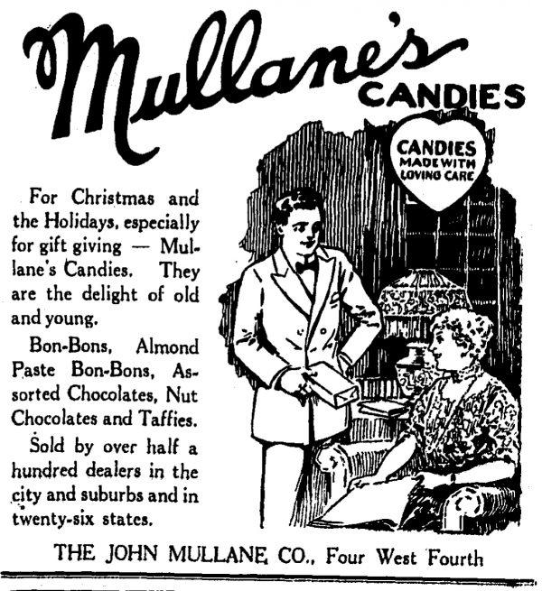 Advertisement from The Cincinnati Enquirer, December 1921.