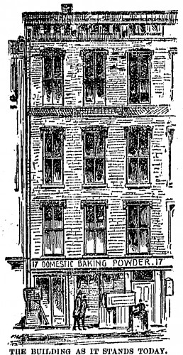 When the Cincinnati Post sent an artist to the Law Building in 1893, the bottom floor was a baking powder factory, but the second floor was a gambling operation.