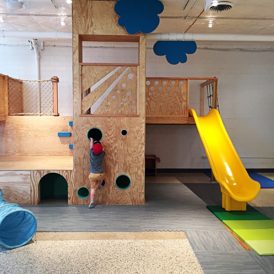 The playroom at the Red Balloon Cafe+Play