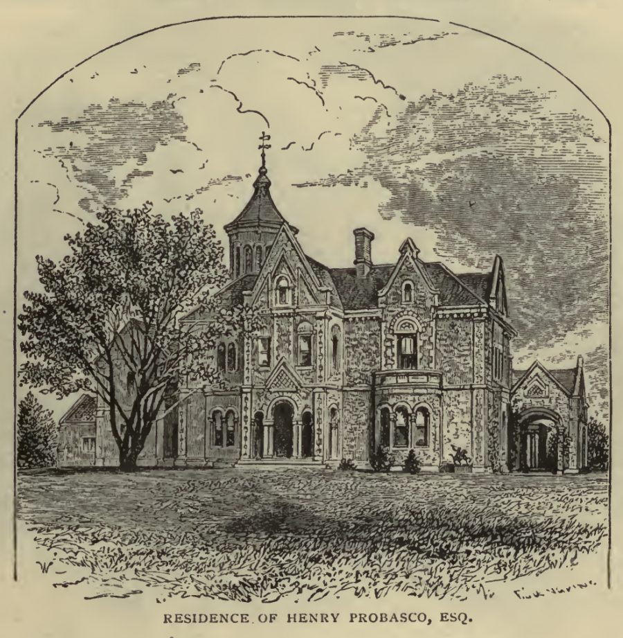 Drawing of Residence of Henry Probasco, from Illustrated Cincinnati by D.J. Kenny, published 1875