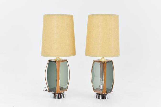 Oversized Mid Century Lamps