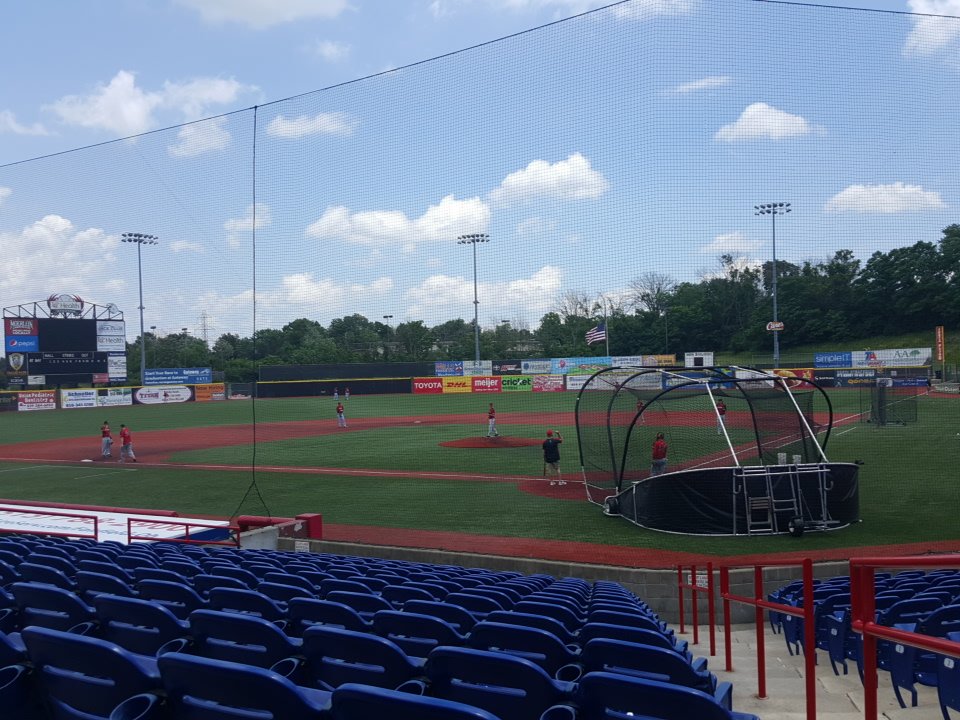 UC Health Stadium is quite five hours before the game, but the Florence Freedom still run through drills at a leisurely pace.