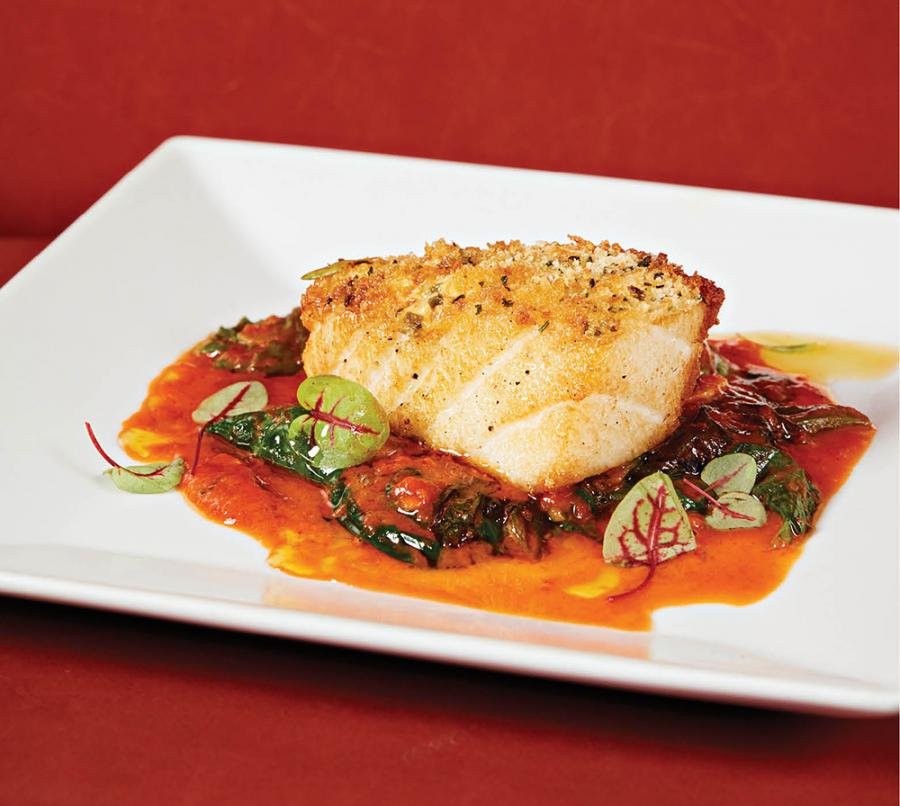 Sea bass with tomato jus