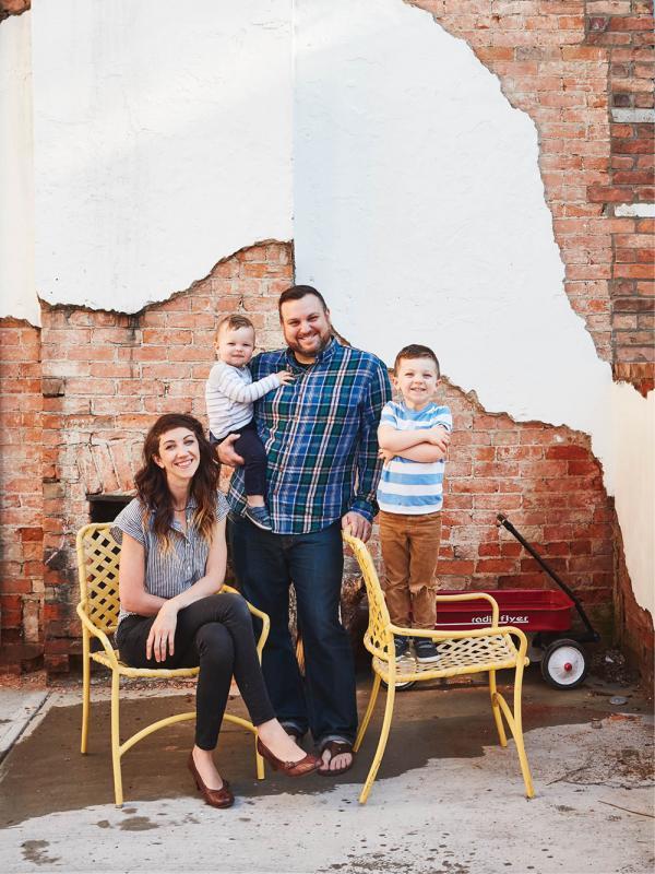 Andrea and Tye Von Allmen and children