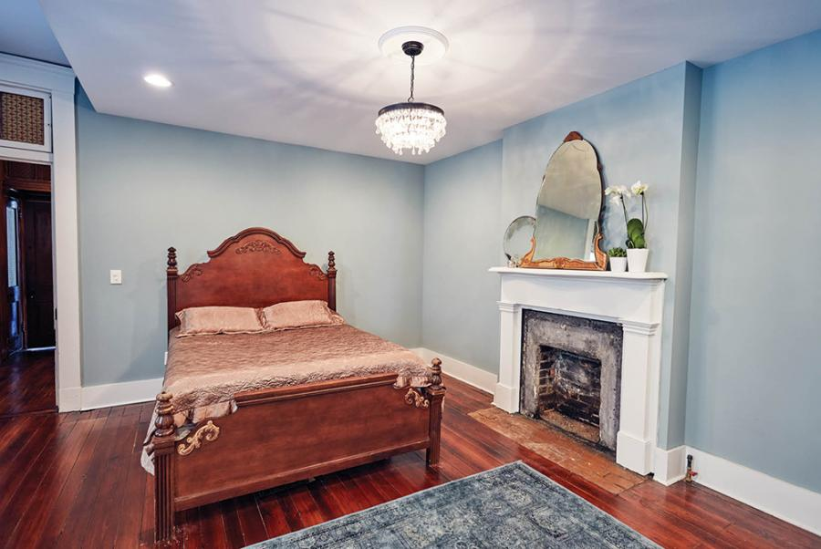 Upstairs the couple continued the mix of styles and mazimized the home's space by adding useful and fun touches.