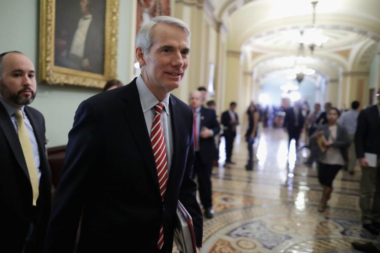 Senate Legislators Speak To The Press After Weekly Policy Luncheons