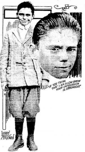 "The headline atop this Cincinnati Post portrait of Larry McGowan proclaimed him the ""Napoleon of Boyville."""