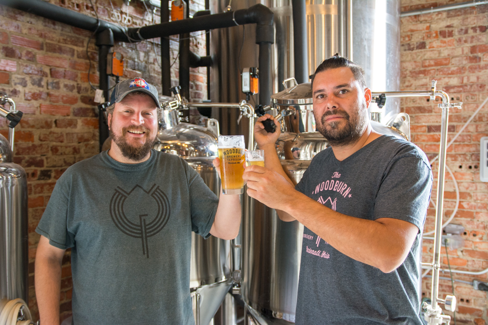 Woodburn Brewery co-owners Chris Mitchell (left) and Dennis Chacón (right).