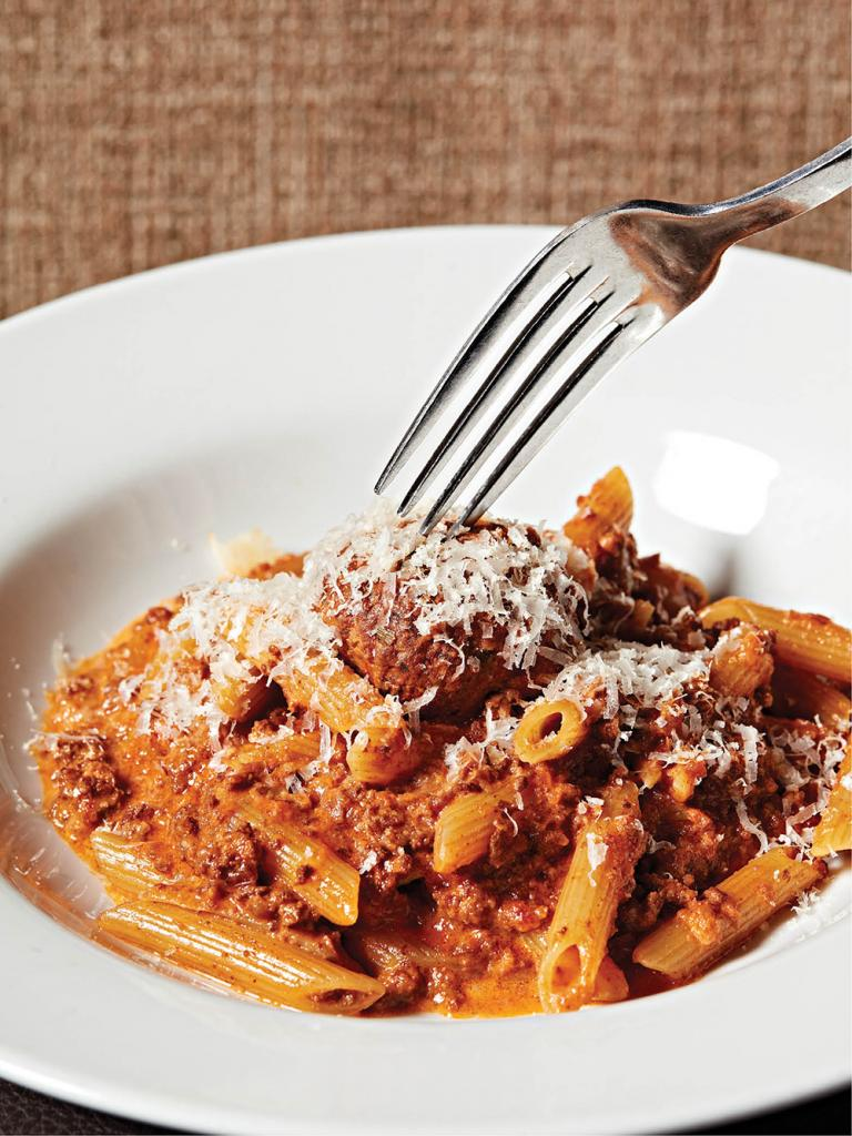 Bolognese and a veal meatball