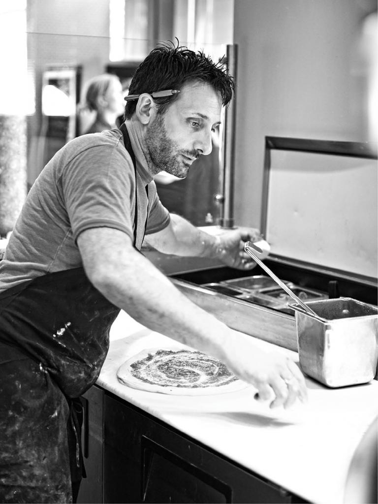 Chef/owner Cristian Pietoso working the line