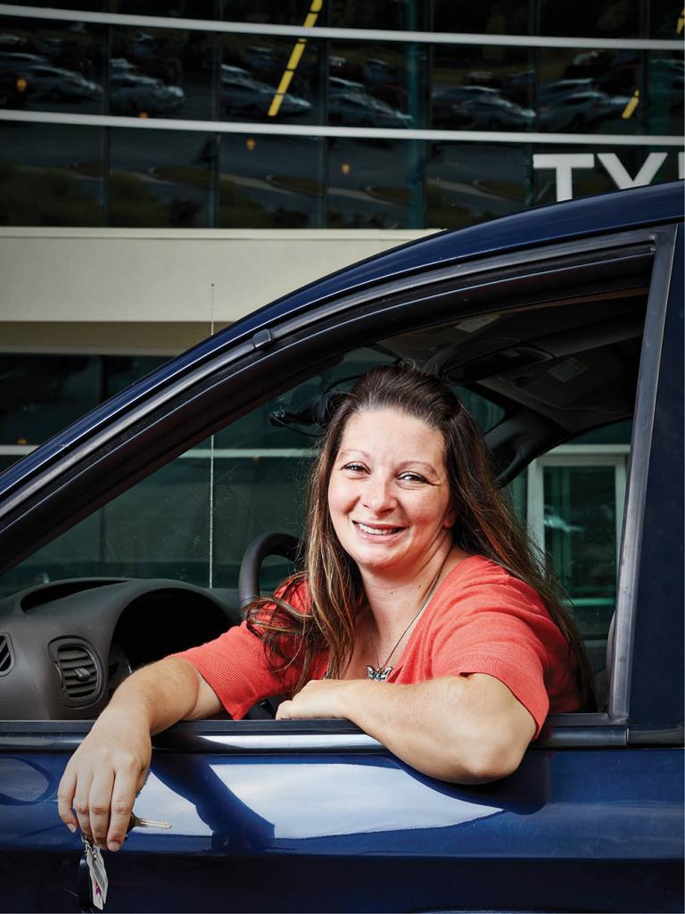 Tracy Summers acquired her new set of wheels through Changing Gears.