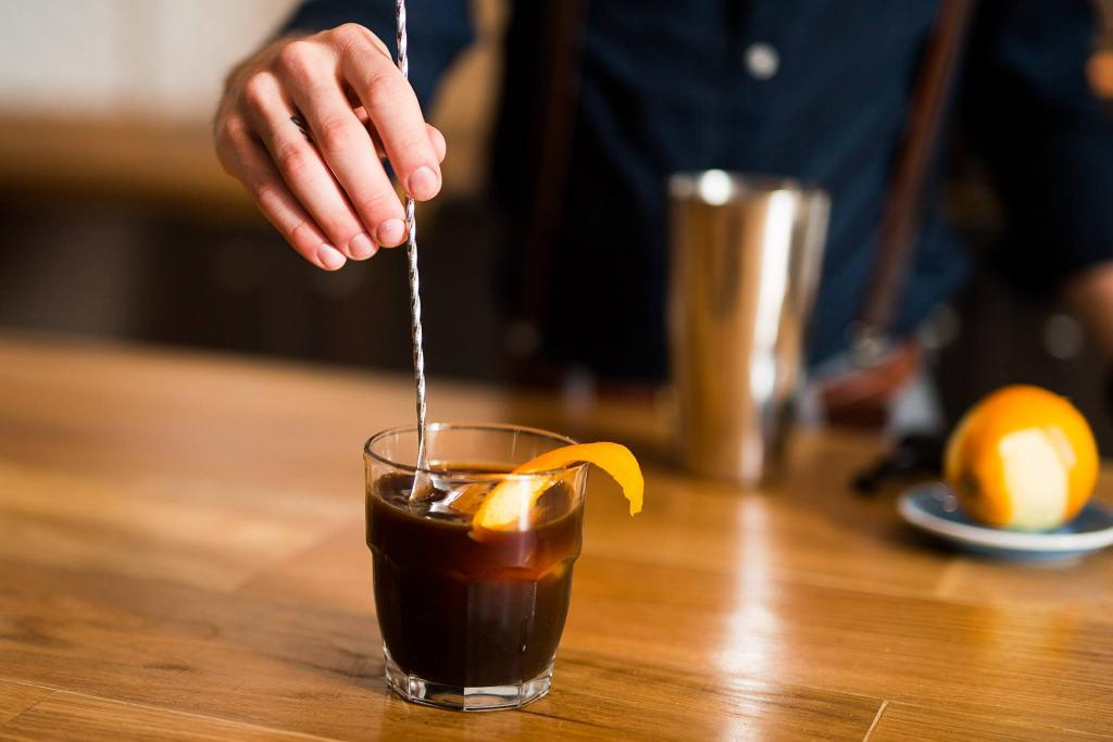 The Cold Fashioned coffee mocktail