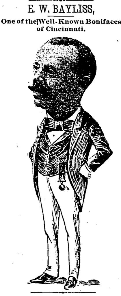 This caricature of Eddy Baylis appeared in the Cincinnati Enquirer exactly one week before Baylis committed suicide.