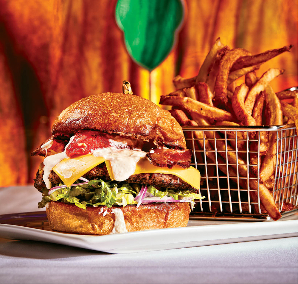 The Jeff Ruby Burger with Boardwalk fries