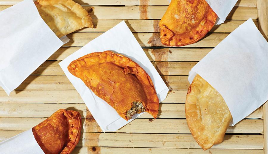 Chicken and chorizo empanadas from Caribe