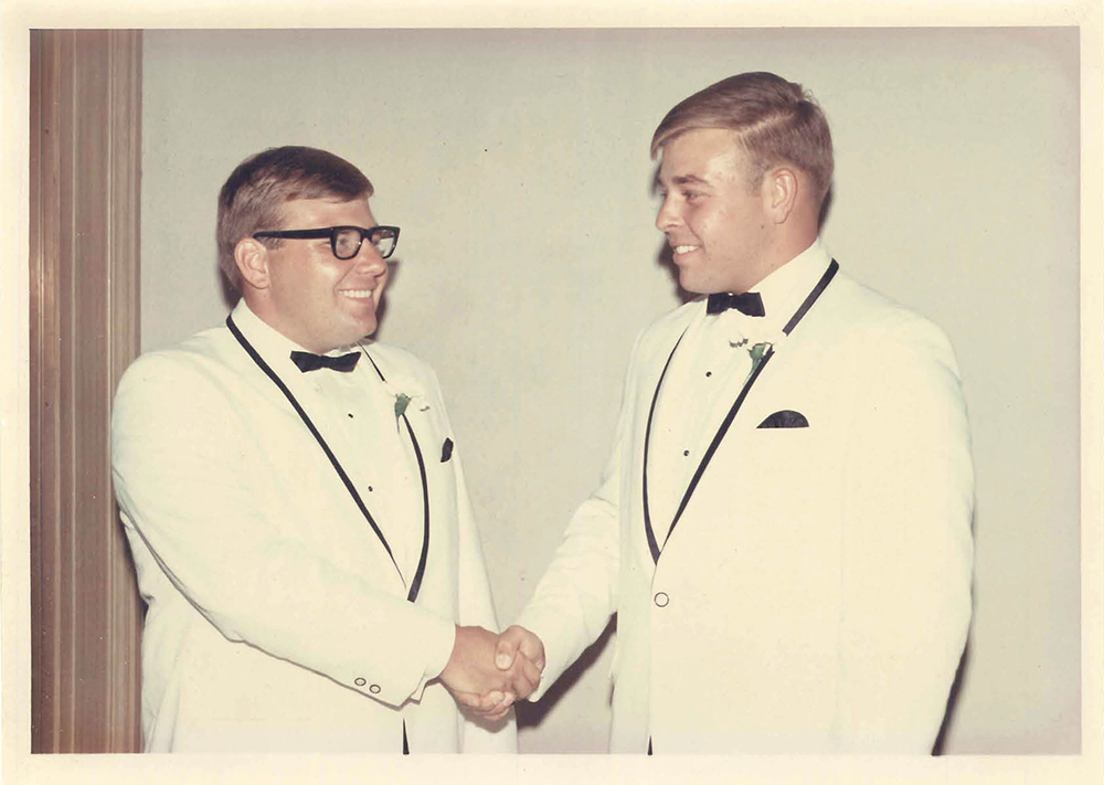 Gene Miller (left) and his brother Kenny in 1968.