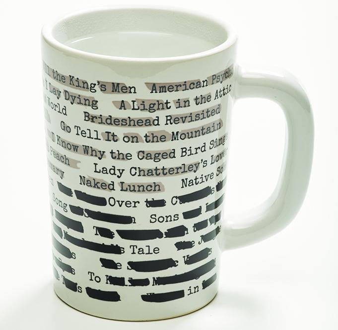 Banned books mug