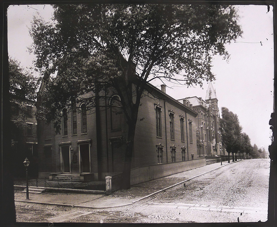 Christie Chapel, Court & Wesley Avenues, West End, gelatin silver contact print, 2013, from glass-plate negative, between 1888 and 1892.
