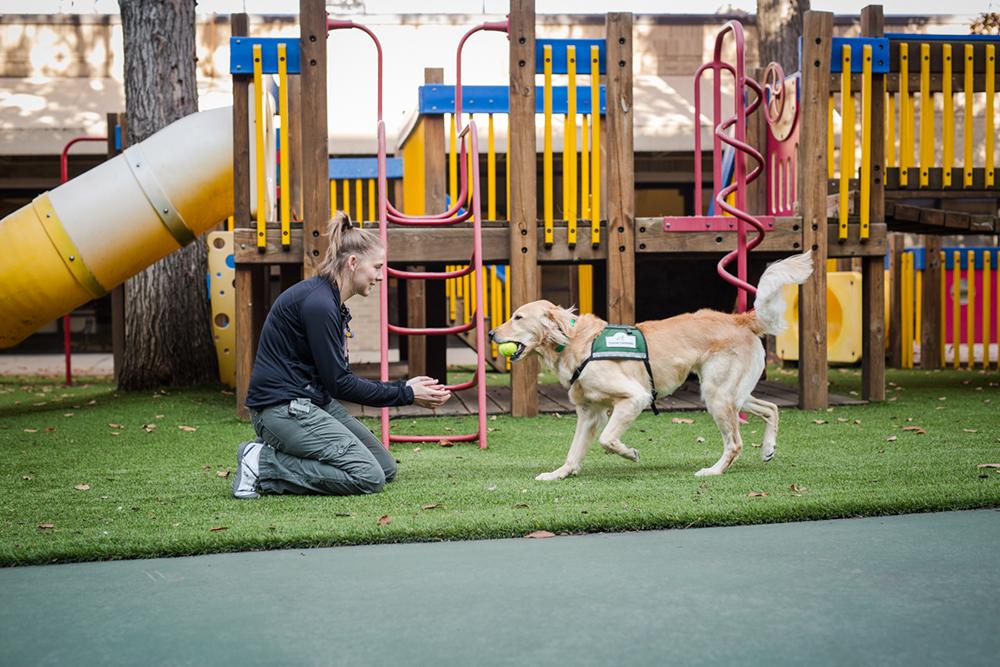 Leica and Kerri Birkett on the playground
