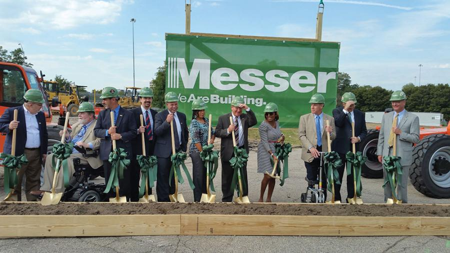 At the ground-breaking for Messer Construction's new West End headquarters in October 2016.