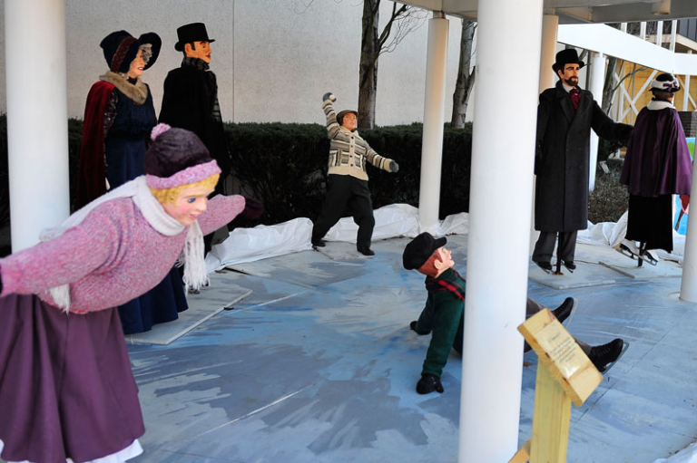 Join Tiny Tim in the Dickens Victorian Village