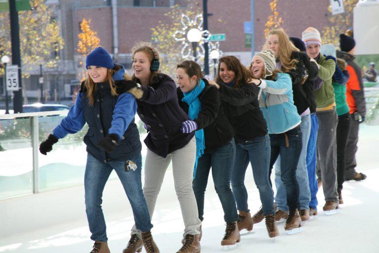 Travel-Worthy Outdoor Skating Rinks