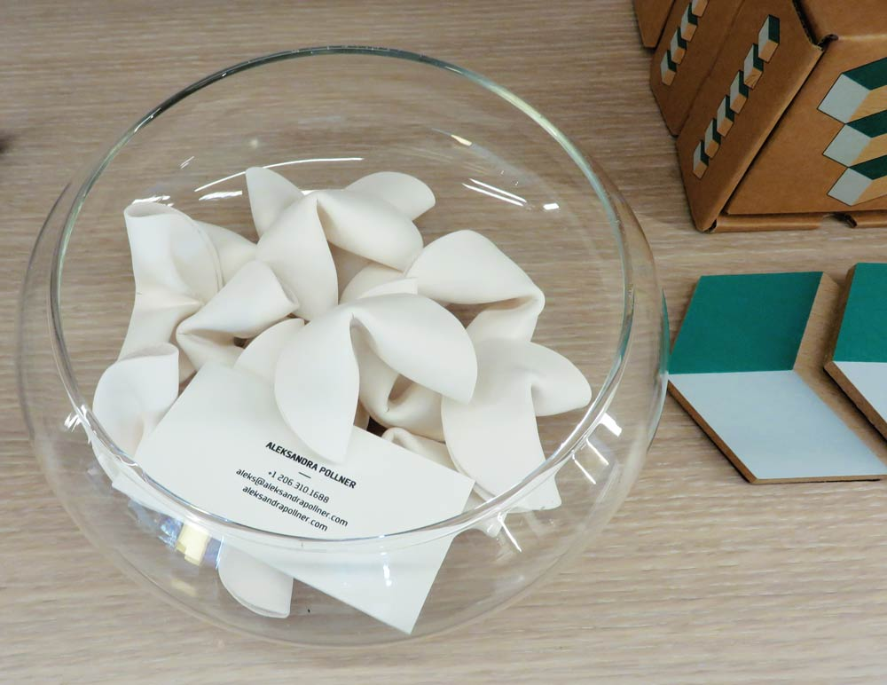 Ceramic fortune cookies to break on purpose!