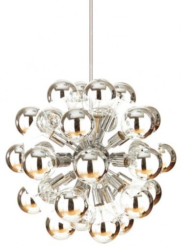 Chrome vintage reproduction Sputnik chandelier, $2,400, Quince & Quinn, qandqhome.com