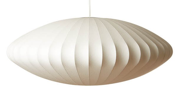 Saucer pendant, $300, Astute Furnishings, astutefurnishings.com