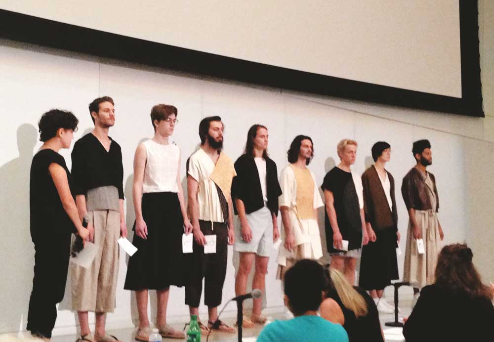 Megan Harmeyer's androgynous collection.