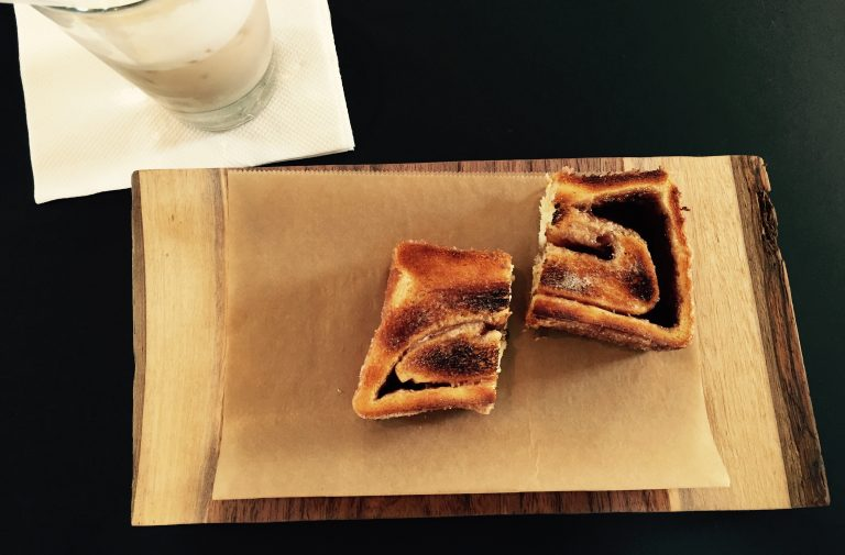 Try This: Frieda's Cinnamon Toast at Deeper Roots Coffee
