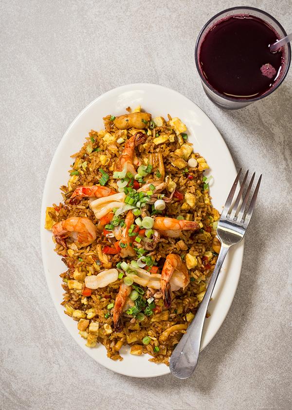 Aarroz con marisco (rice with shrimp)