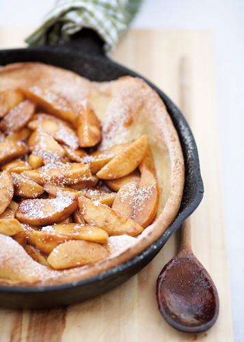 Baked Cinnamon Apple Pancake.