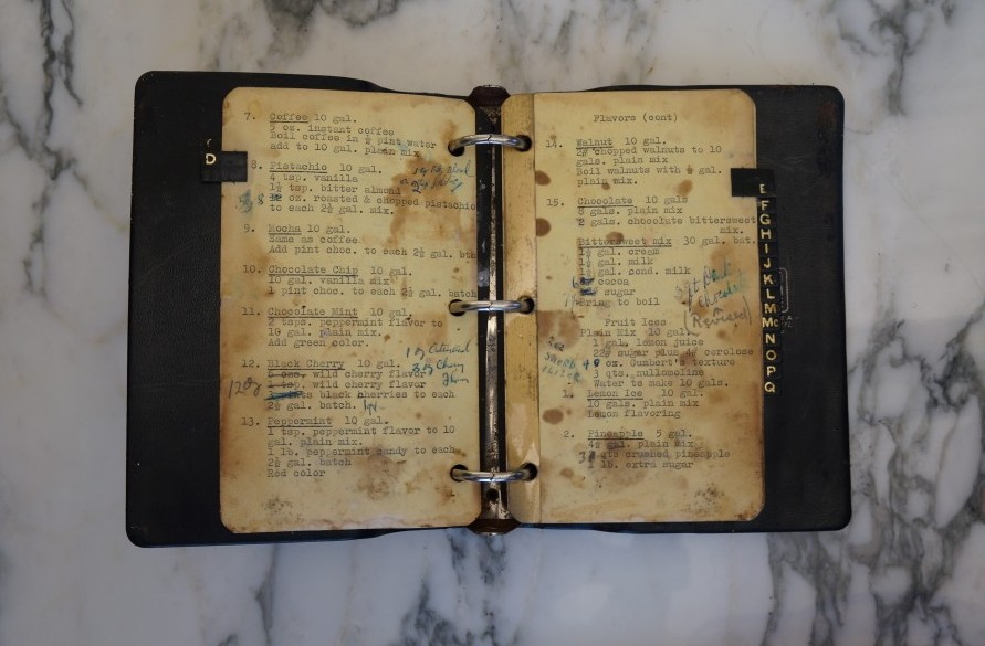 An original family recipe book