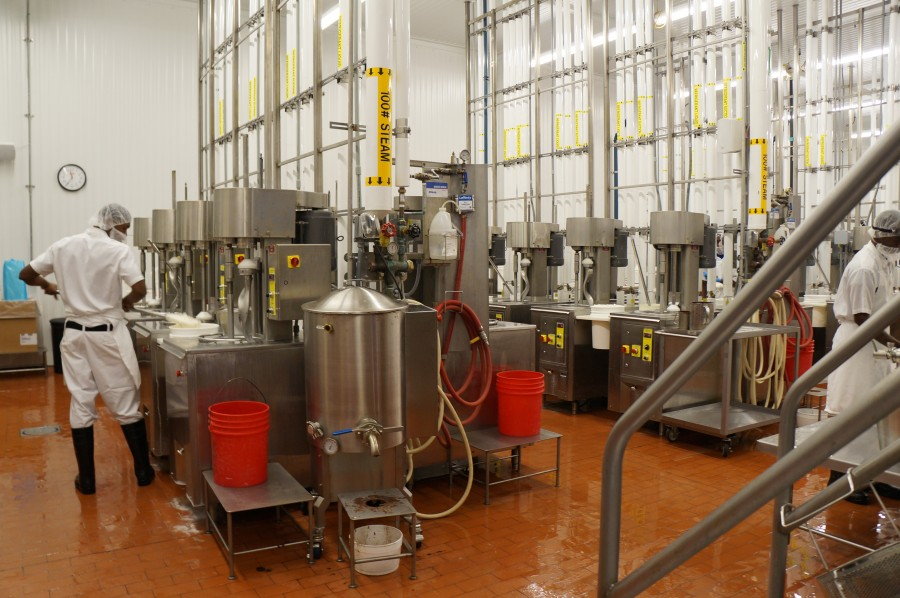 The production room may look high-tech, but it is filled with some of the same types of equipment that Graeter's has been using since the beginning.