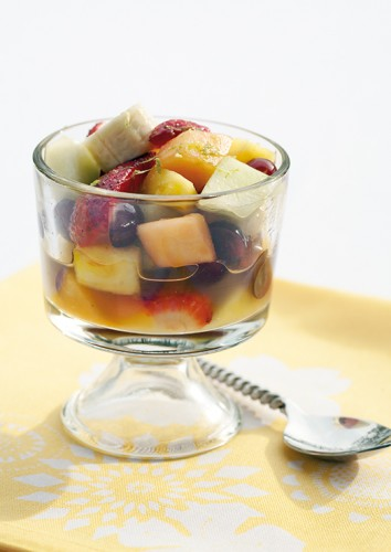 Tequila-spiked Fruit Salad with Lime.