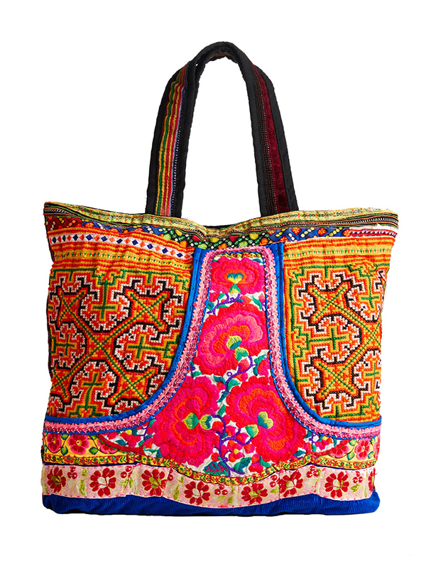 TRADING UP The intricate Nepalese embroidery and mash-up of patterns and colors may overshadow the food you stash inside. But broccoli understands. Kathmandu Imports tote, $49.95, Pangaea Trading Co, (513) 751-3330