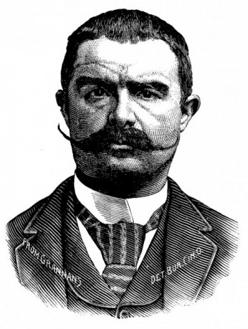 Portrait of Enrico Basante from Grannan's Pocket Gallery Of Noted Criminals Of The Present Day, by Grannan Detective Bureau Co. Published 1892