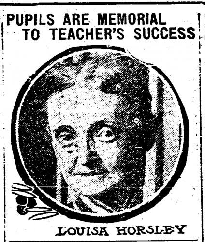 Photo of Louise Horsley from Cincinnati Post April 26, 1917
