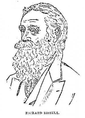 Portrait of Richard Bissell From Cincinnati Enquirer, 17 November 1885