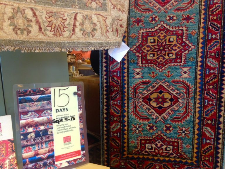 Spotted: Ten Thousand Villages' Annual Rug Event