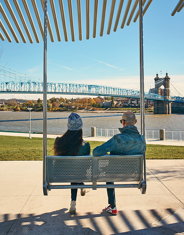 Rosenberg swings at Smale Riverfront Park