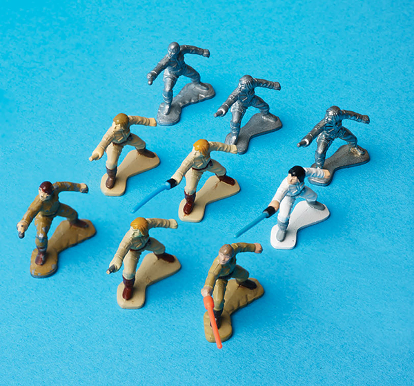 A pre-production series of Luke Skywalker Micro samples